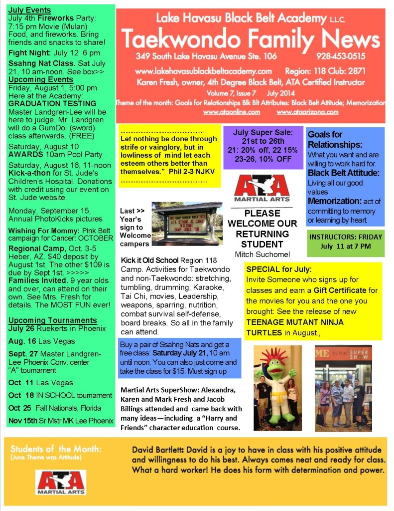 July 2014 Newsletter LHBBA